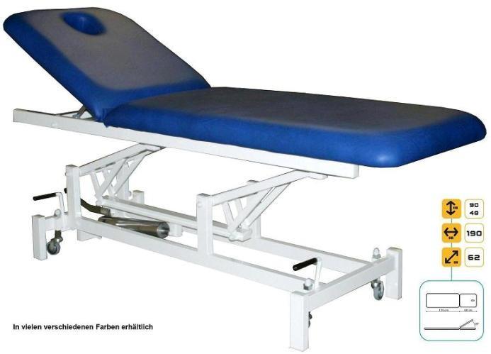 therapieliege elektrisch liege patientenstuhl m rollen ebay. Black Bedroom Furniture Sets. Home Design Ideas