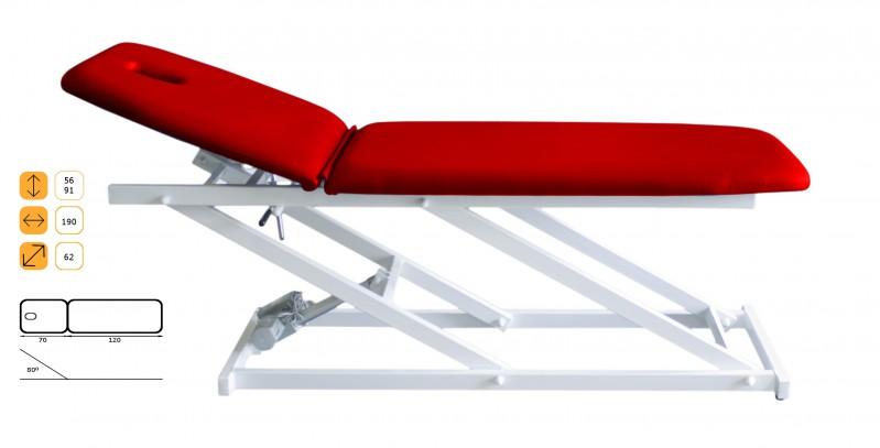 c 700 therapieliege elektrisch h henverstellbar 2 teilig. Black Bedroom Furniture Sets. Home Design Ideas
