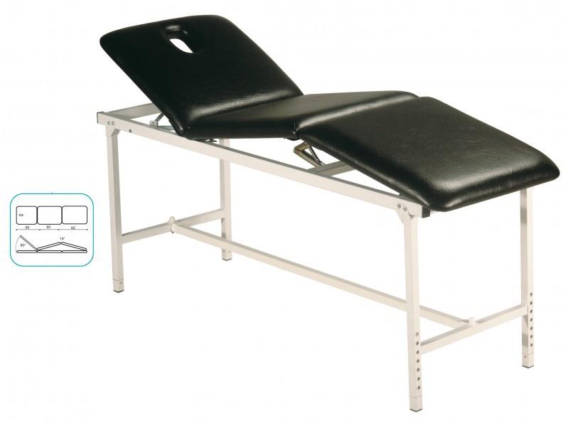 therapie liege 3 teilig klappbar mit gesichtsausschnitt fixe h he 75 cm medizinische m bel. Black Bedroom Furniture Sets. Home Design Ideas